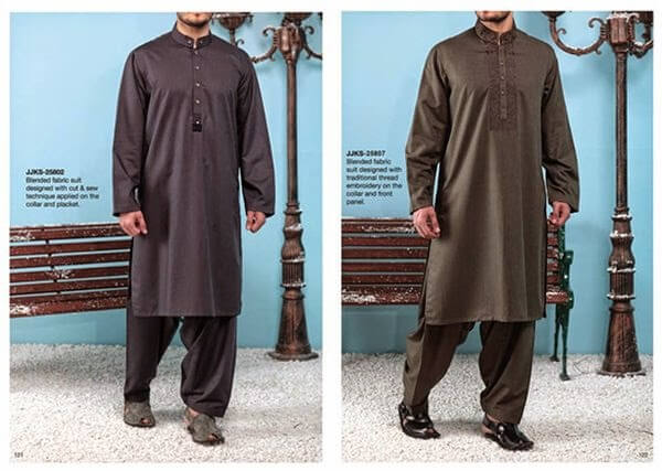 Men winter dress collection by Junaid Jumshaid