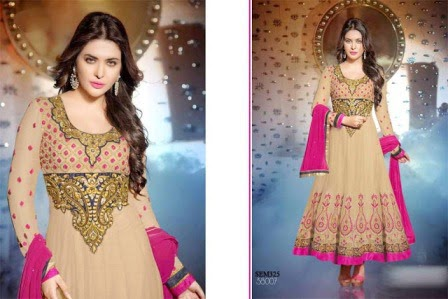 Anarkali Winter Dress Collection 2014