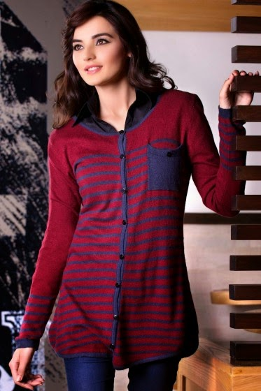 open placket with button sweater
