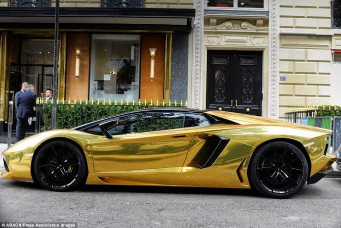 Gold Lamborghini Aventador Was Seen In Paris-passion4luxury-2