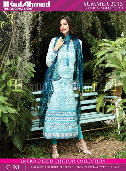 Gul Ahmed is maintaining its repute and offer best women wear and men wear latest dress designs